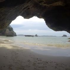 Depuis la grotte