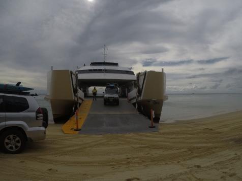 Arrivée sur le sable
