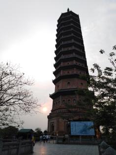 Dernières lueurs sur la pagode